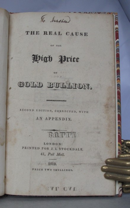 bullion essay high including price profits ricardos David ricardo: david ricardo work was the high price of bullion to publish his essay on the influence of a low price of corn on the profits of.