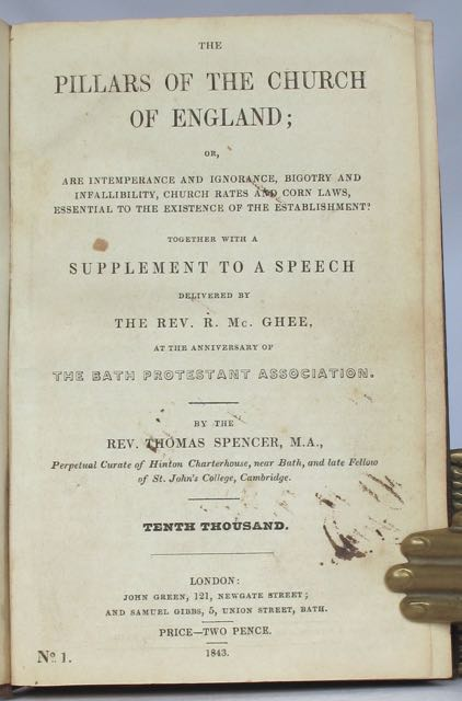 A collection of 18 (ex 19) tracts on the Corn Laws, religion